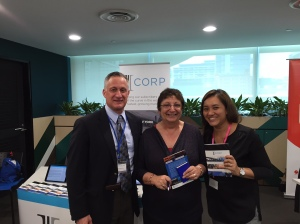 IIICorp Global Sales Director Greg Greenberg, with representatives from Oxford Said Business School and INSEAD Asia